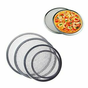 Pizza Screen Pan Aluminum Oven Plate Baking mesh grill net tray 8 to 19