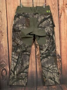 Under Armour Scent Control Camo Hunting Pants Men#x27;s Sz 34 X 32 Mossy Oak Forest