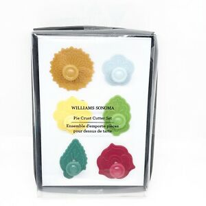 Set Of 6 Williams Sonoma Pie Crust Cutters Cookie Cupcake Decor Leaves New Fall $24.99