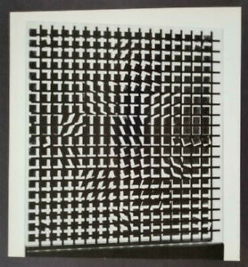 Victor Vasarely quot;Tlinkoquot; Mounted b w Offset Lithograph 1971 $49.00