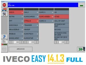 IVECO EASY 14.1.3 FULL DIAGNOSTIC SOFTWARE ALL FUNCTIONS ACTIVE $100.00