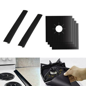 6Pcs Gas Hob Liner Practical Oven Liner Gas Hob Protector Sheets for Office Home $13.71