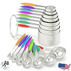 16 Pc Wildone Stainless Steel Measuring Cups Spoons Set Kitchen USA SELLER $19.99