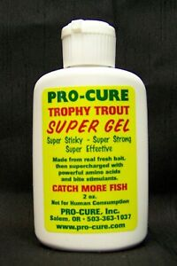 Pro Cure 2oz Fishing Gel Scent UV Flash Attractant STICKY TROPHY TROUT Scent