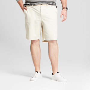 Mens Shorts Goodfellow Co Linden Flat Front Ivory Khaki Casual Bigamp;Tall Size 50 $11.69