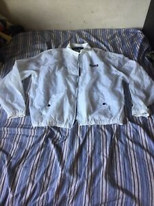 Vintage White Polo Sport Spell out Windbreaker Mens Size XL $70.00