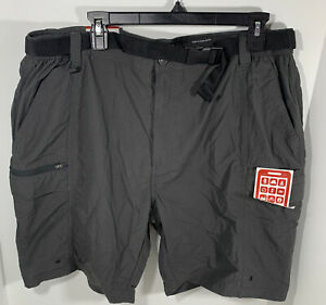 COLEMAN Mens Shorts Raven Gray Hiking Performance Belted Sz XL 40 42 NWT $16.99