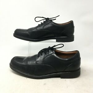 Clarks Oxfords Slip On Dress Shoes Lace Up Round Toe Leather Black Mens 10 M $30.62