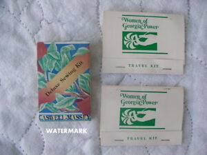 Vintage Travel Sewing Kits Caswell Massey amp; Women of Georgia Power $12.00
