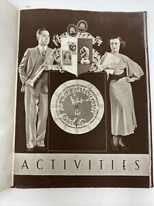 1936 Yearbook Lakewood Highschool Chicago Antique Signatures $84.96