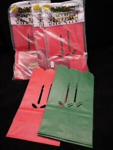 3 NIP Christmas Luminarias Bag Red Green Candle amp; Holly Guide Lights