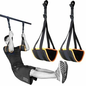 Sport Adjustable Ab Straps Pull Up Bar Hanging Abdominal Home Gym Core Workouts $28.99