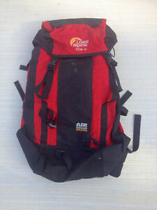 RARE Lowe Alpine Vision 40 Hiking Climbing Backpack Daypack Red Air Cooled Back $14.99