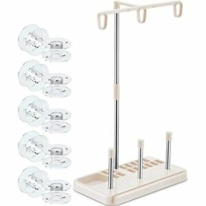 Lightweight Thread Stand 3 Spools Sewing Holder With 10 Pieces Transparent For $16.96