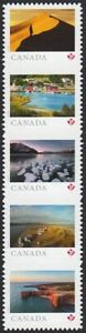 DIE CUT QP = FAR AND WIDE = RIGHT STRIP OF 5 FROM BOOKLET MNH Canada 2020 C $14.86