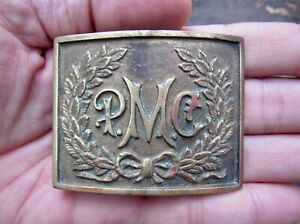 Vtg PENNSYLVANIA MILITARY COLLEGE Belt Buckle 1943 University PMC Brass RARE VG $39.99