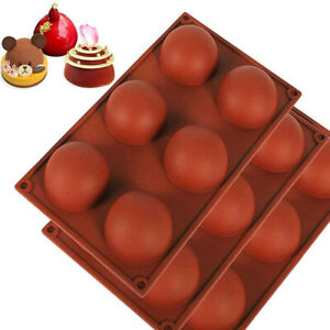 6 Hole Semi Sphere Round Silicone Mold Hot Chocolate Bombs Cake Baking Mould $7.98