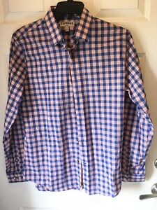 NWT Expess Plaid Sport Shirt Long Sleeve Mens Size Medium Fitted $23.95