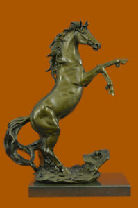 100% Real Bronze Large Size Foal Colt Horse Statue Baby Animal Outdoor Sculpture $279.30