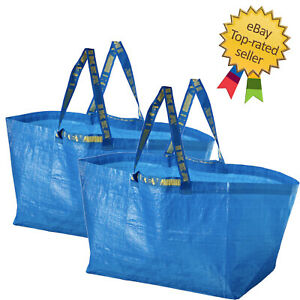 2x IKEA Bag Blue Large Size Shopping Laundry Grocery Bag $8.89