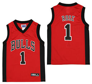 Outerstuff NBA Youth Boys Chicago Bulls Derrick Rose #1 Player Jersey Red $9.99