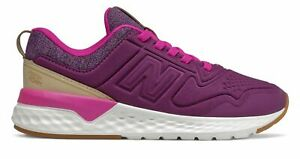 New Balance Kid#x27;s 515 Sport Little Kids Female Shoes Purple with Off White Size