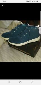 new Under Armour Shoes Mens Charged 24 7 Mid blue white Sneaker 3020007 400 $13.00