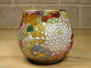 Good Vintage Japan Satsuma Colorful Work Hand Painted