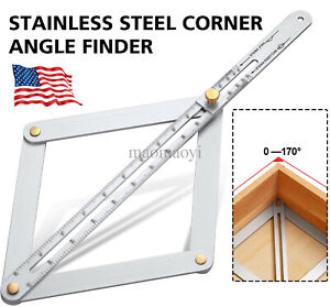 Square Protractor Corner Angle Finder Ceiling Artifact Measure Tool Woodworking $5.99