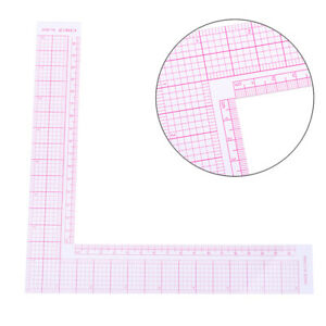 Garment Cutting Plastic L Shape Ruler For Sewing Accessories Patchwork Tools US $3.58