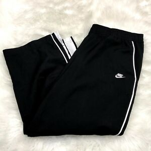 Nike Medium Womens Black White Lined Crop Work out Pants $11.19