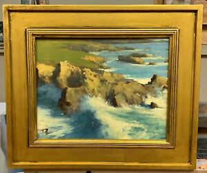 Original Oil Painting quot;Big Surf at Rocky Pointquot; by Brian Blood $799.00