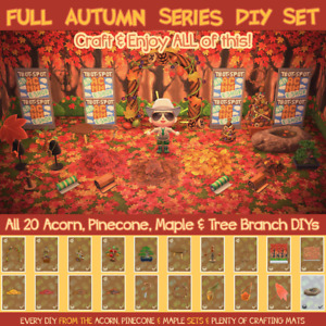 Animal Crossings FULL Autumn Series Set 22 DIYs Acorn Pine Maple Horizon $5.95