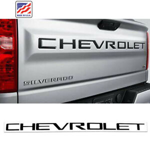 Tailgate CHEVROLET Emblems letters For 2019 2020 Chevrolet Silverado 1500 Black