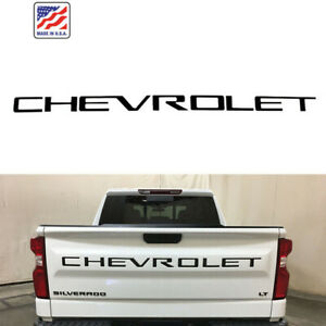 Tailgate CHEVROLET Emblems letters For 19 20 Chevrolet Silverado 1500 Black