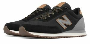 New Balance Men#x27;s 501 Ripple Sole Shoes Black with Grey