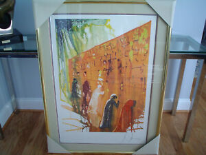 SALVADOR DALI Wailing Wall Lithograph Pencil Signed amp; Numbered Nice Frame $1760.00