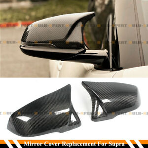 FOR 2020 21 TOYOTA SUPRA A90 M STYLE CARBON FIBER REPLACEMENT MIRROR COVERS CAPS $125.99
