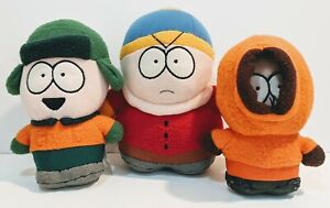 South Park Bottom Weighted Plush Stuffed Toys Lot of 3 Cartman Kenny Kyle 7 $49.95
