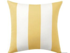 "Pottery Barn Sunbrella® Awning Striped Indoor Outdoor Pillow 18x18"" $39.99"