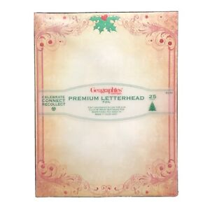 NEW Geographics Music Premium Foil Christmas Letterhead Stationery 25 Ct $4.99