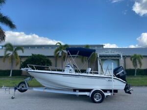 2006 Boston Whaler 180 Dauntless Fishing Boat Mercury 150 Optimax Trailer Wow