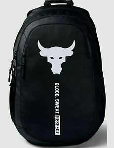 Under Armour Project Rock Brahma Backpack Black Color Unisex 1359284 001 NWT $69.97