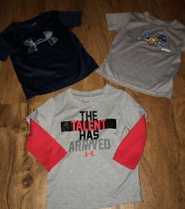 LOT OF 3 Boys Under Armour SHIRTS SIZE 18 Months $14.99