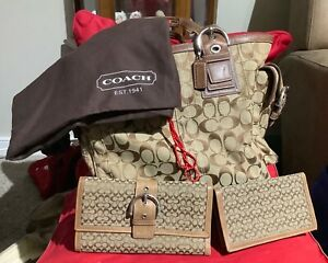 Coach purse with bonus wallet checkbook holder and bag