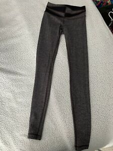 Lululemon Herringbone Wunder Under Black Brown Leggings Pants Size 4 $45.00