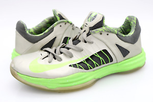Nike Mens 10.5 Hyperdunk Low Gray Electric Green 554671 004 Basketball Shoes $54.99