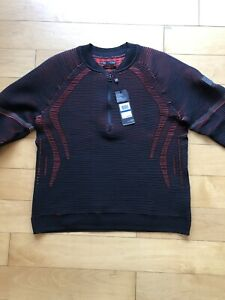 UA IntelliKnit 2.0 ½ Zip Pullover Body Sweater Men's XL Black Red Under Armour $50.00