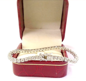 5.00 Carat Ct Round Cut Diamond Tennis Bracelet 14k White Gold 7.25quot;
