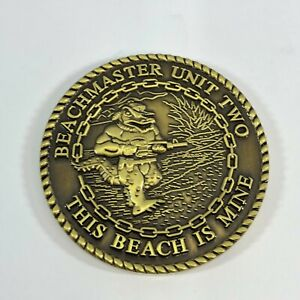 Beach Master Two quot;The Beach is Minequot; 1.55quot; Challenge Coin USN